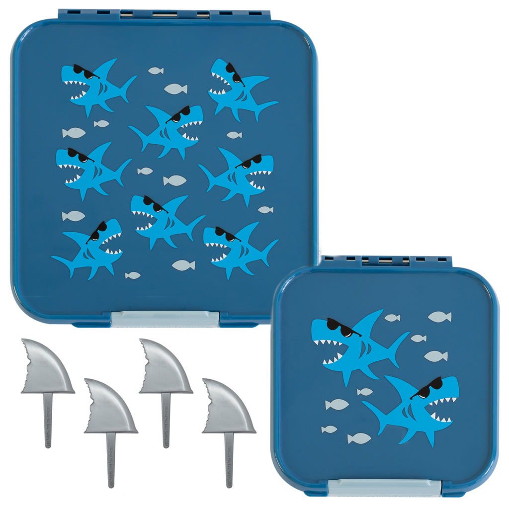 Little Lunch Box Co. Bento Five & Two Bundle - Shark