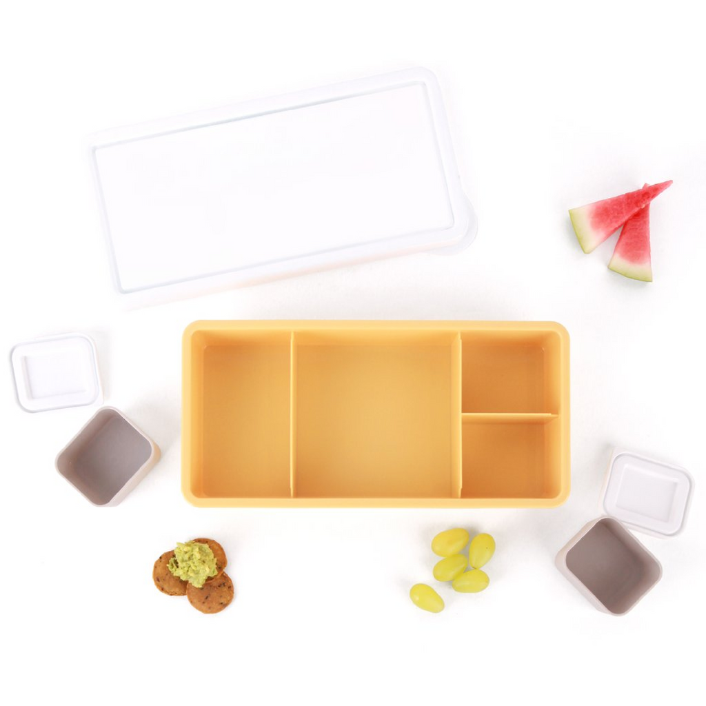 Love Mae Lunch Box - Yellow Base (White Lid)