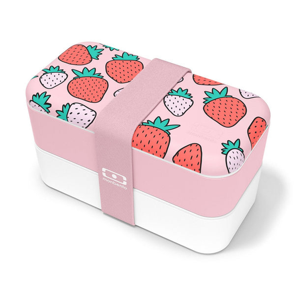 Monbento Microwavable Original Graphic Lunchbox - Strawberry