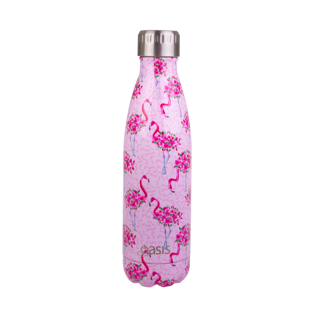 Oasis Insulated Bottle 500ml - Flamingo