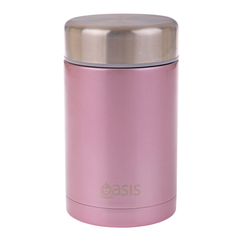 Oasis 450ml Insulated Food Jar - Blush Pink