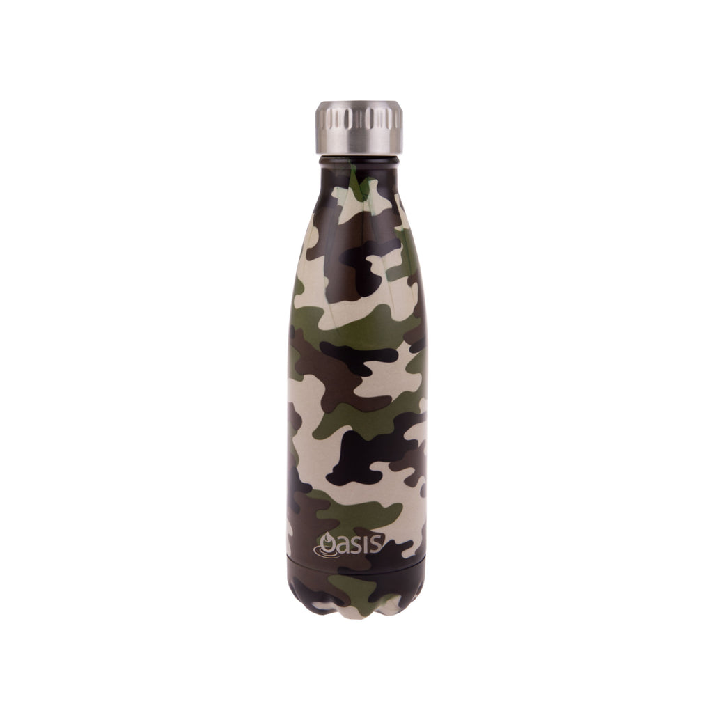 Oasis Insulated Drink Bottle Camo Green
