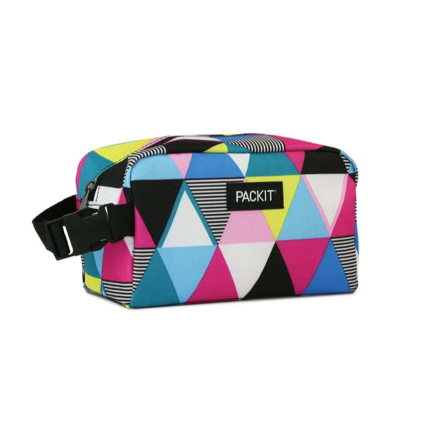 PackIt Freezable Snack Box Triangle Stripes