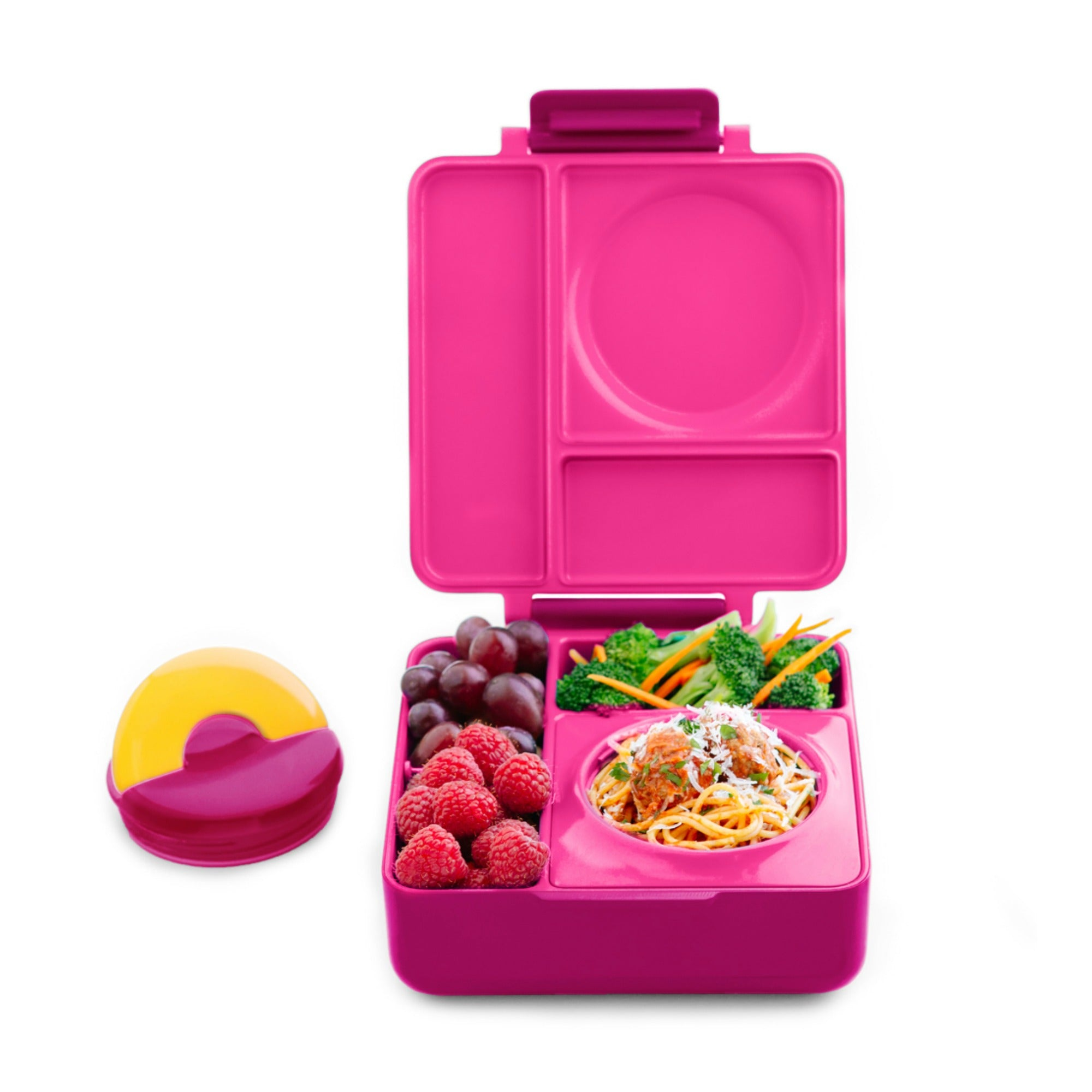 OmieBox Hot & Cold Lunch Box - Pink Berry