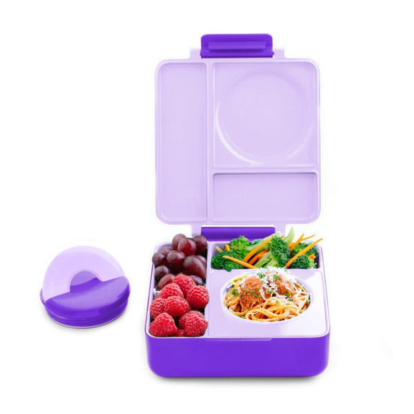 OmieBox Hot & Cold Lunch Box - Purple Plum