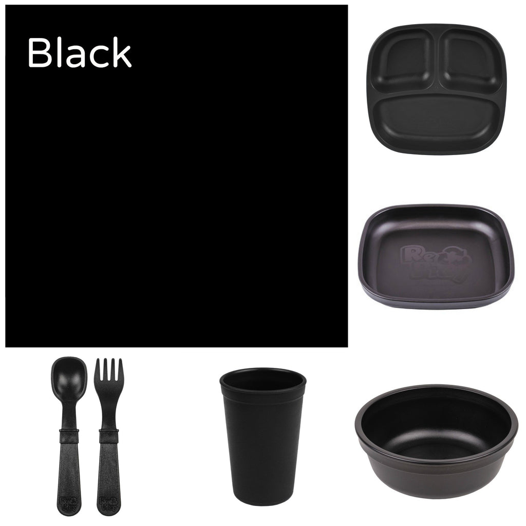 Re-Play Recycled Dinner Set - Black
