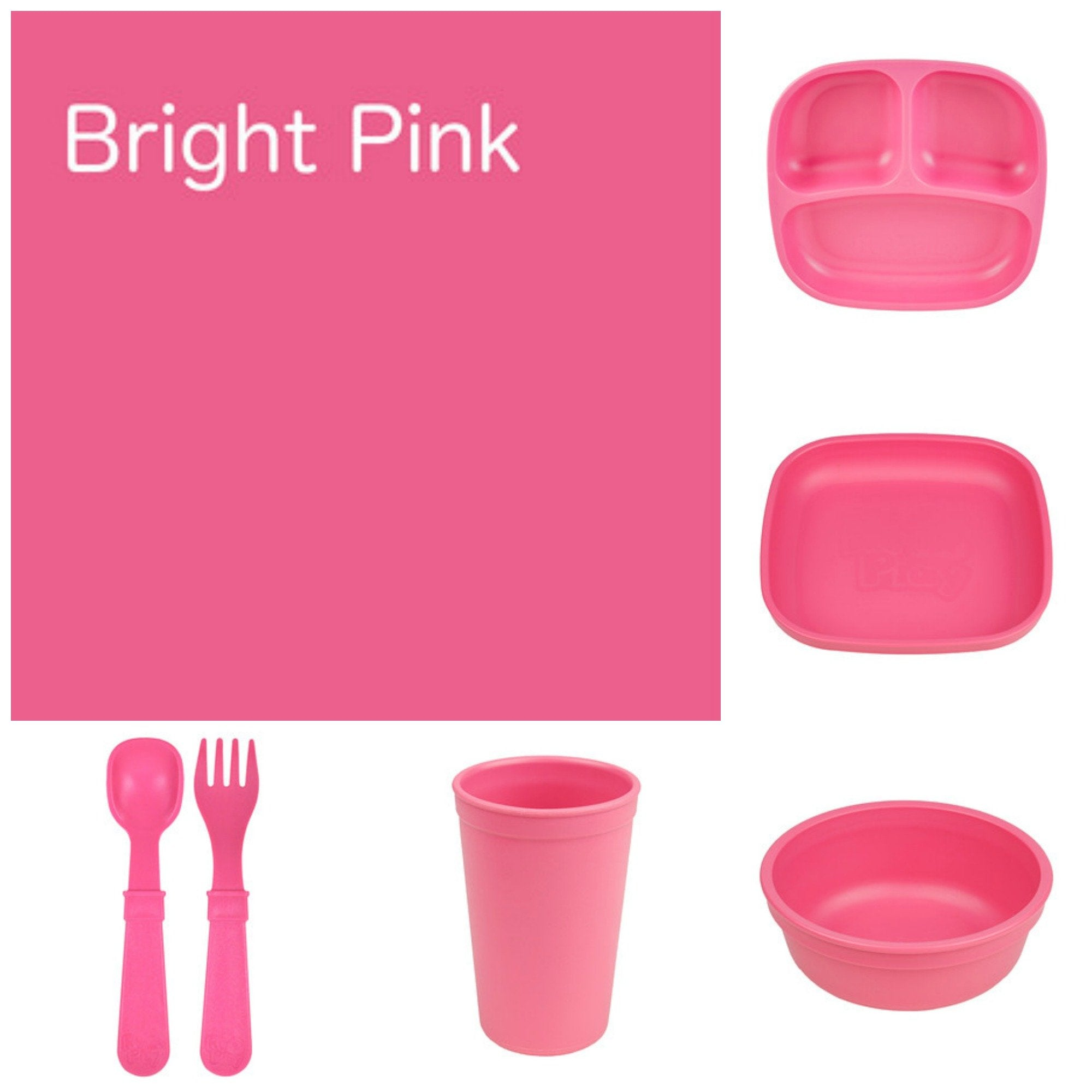Re-Play Recycled Dinner Set - Bright Pink