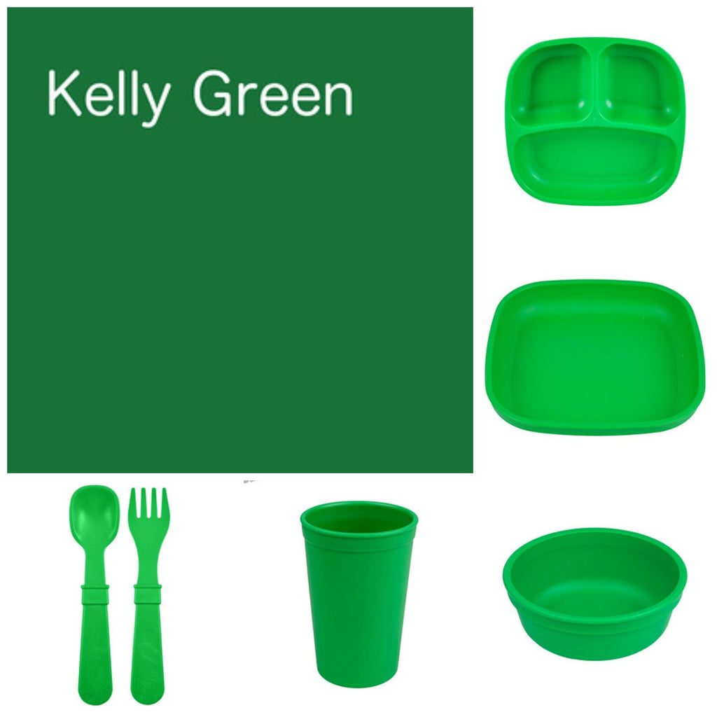 Re-Play Recycled Dinner Set - Kelly Green