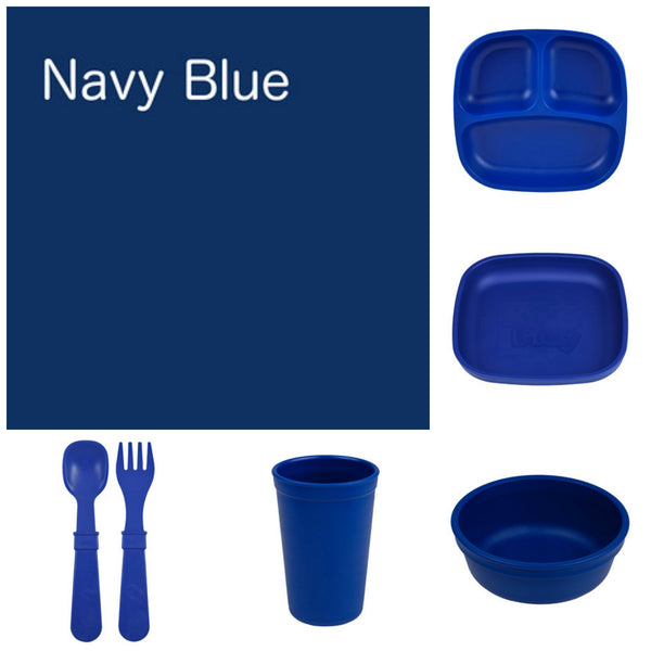 Re-Play Recycled Dinner Set - Navy Blue
