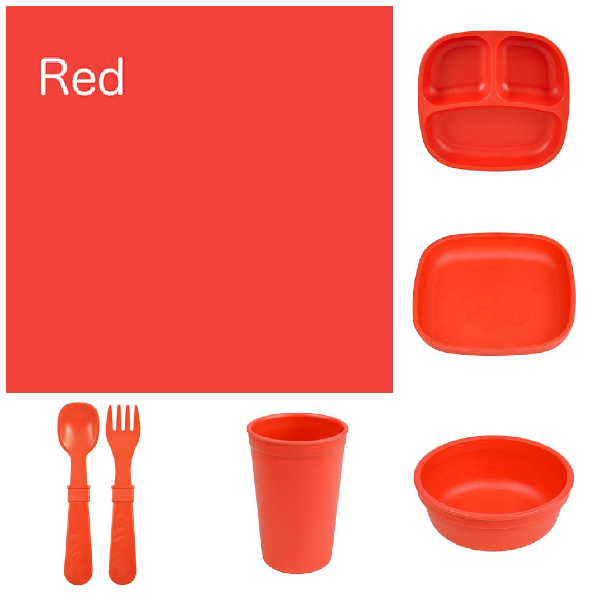 Re-Play Recycled Dinner Set - Red