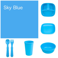 Re-Play Recycled Dinner Set - Sky Blue