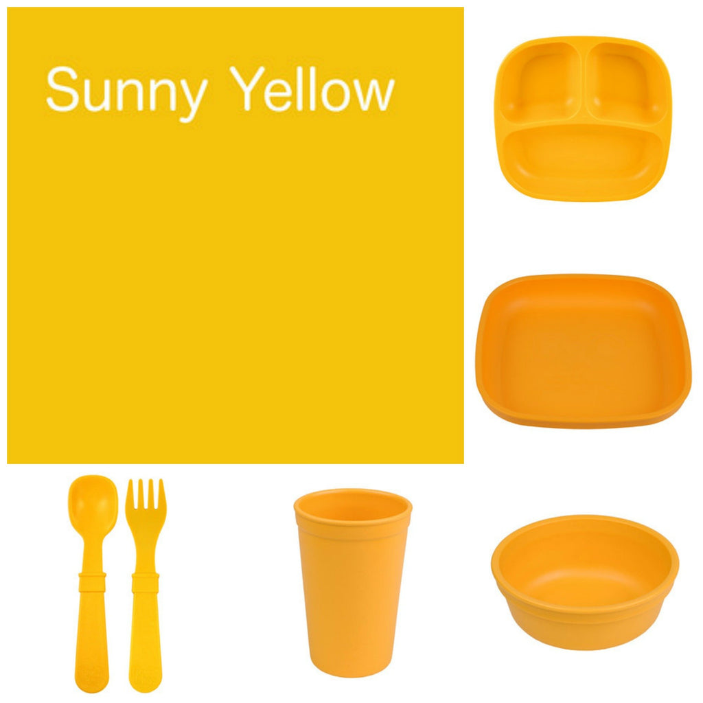 Re-Play Recycled Dinner Set - Sunny Yellow