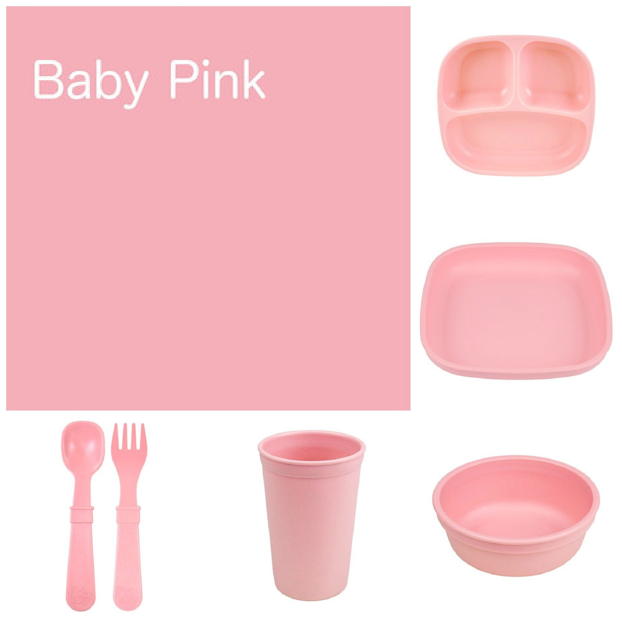 Re-Play Recycled Dinner Set - Baby Pink