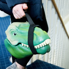 T-Rex Dinosaur Head Lunch Box with Carry Handle
