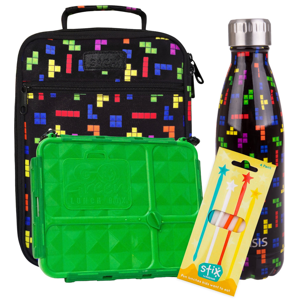 Tetris Lunch Box, Bag & Bottle Bundle - Bonus STIX! - COMING SOON