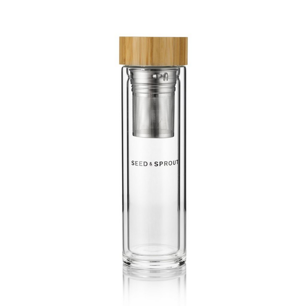 Seed & Sprout Insulated Glass Tea Flask