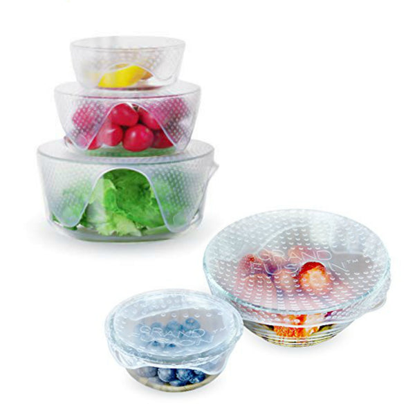 Silicone Food Bowl Wraps - 4 pack