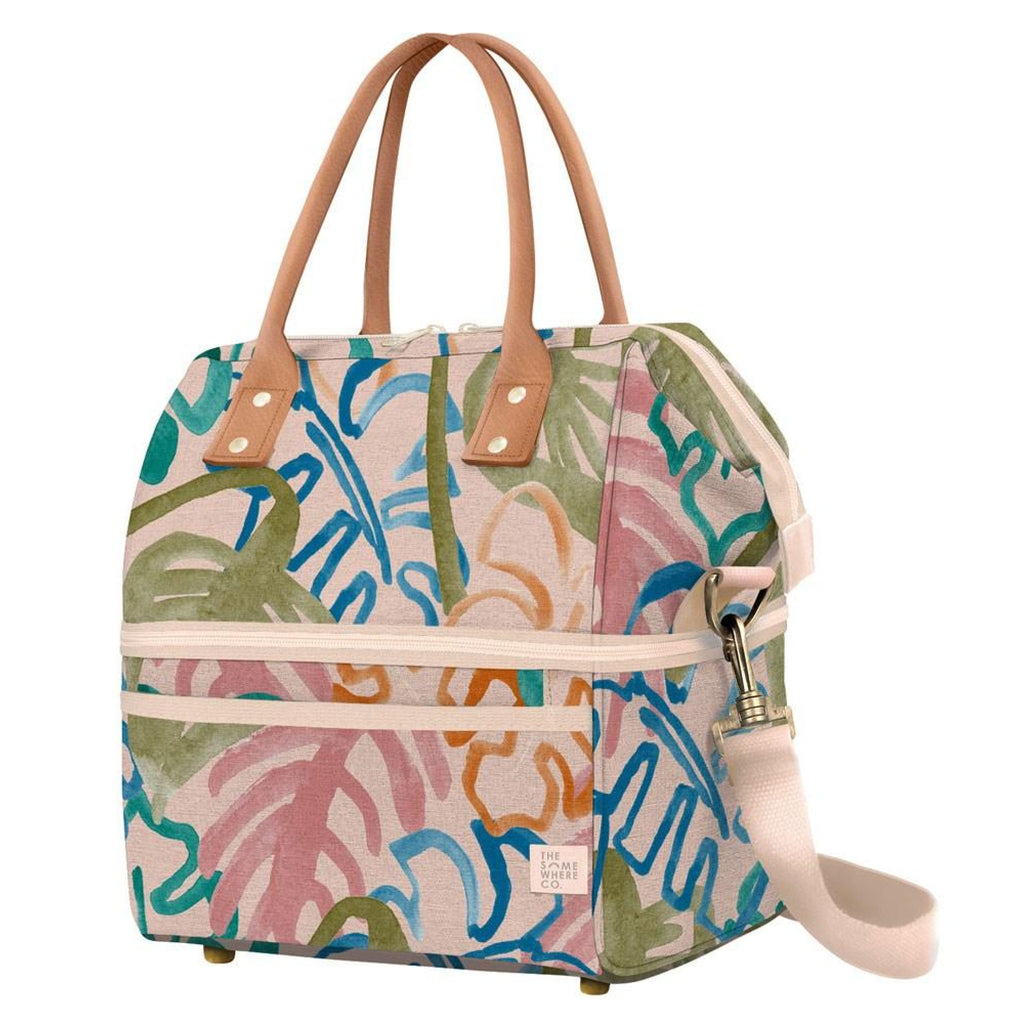 The Somewhere Co. Insulated Picnic Bag - Wild Monstera