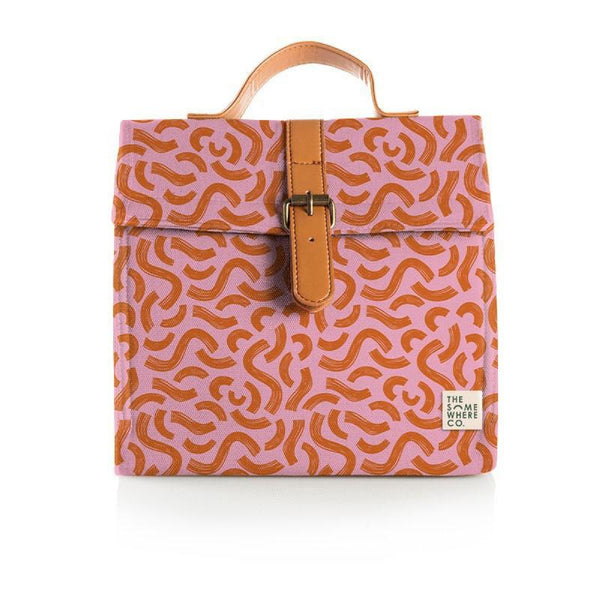 The Somewhere Co. Insulated Lunch Satchel - Raspberry Liquorice