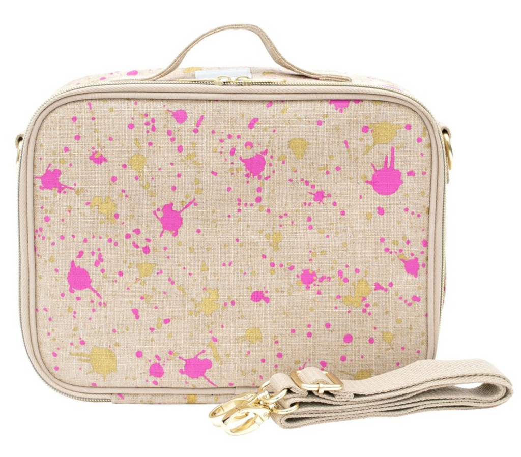 SoYoung Insulated Bag - Fuchsia Gold Splatter