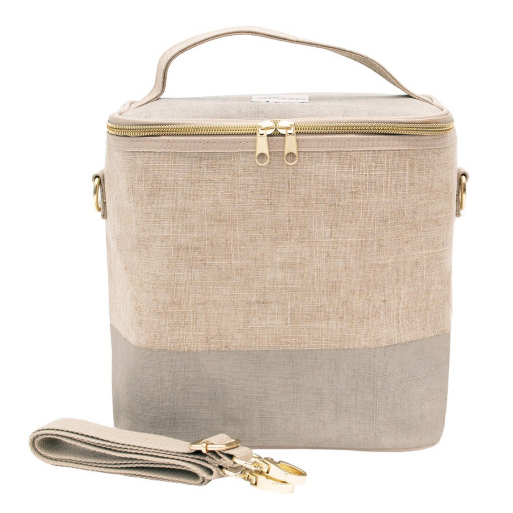 SoYoung Linen Poche Insulated Bag - Cement