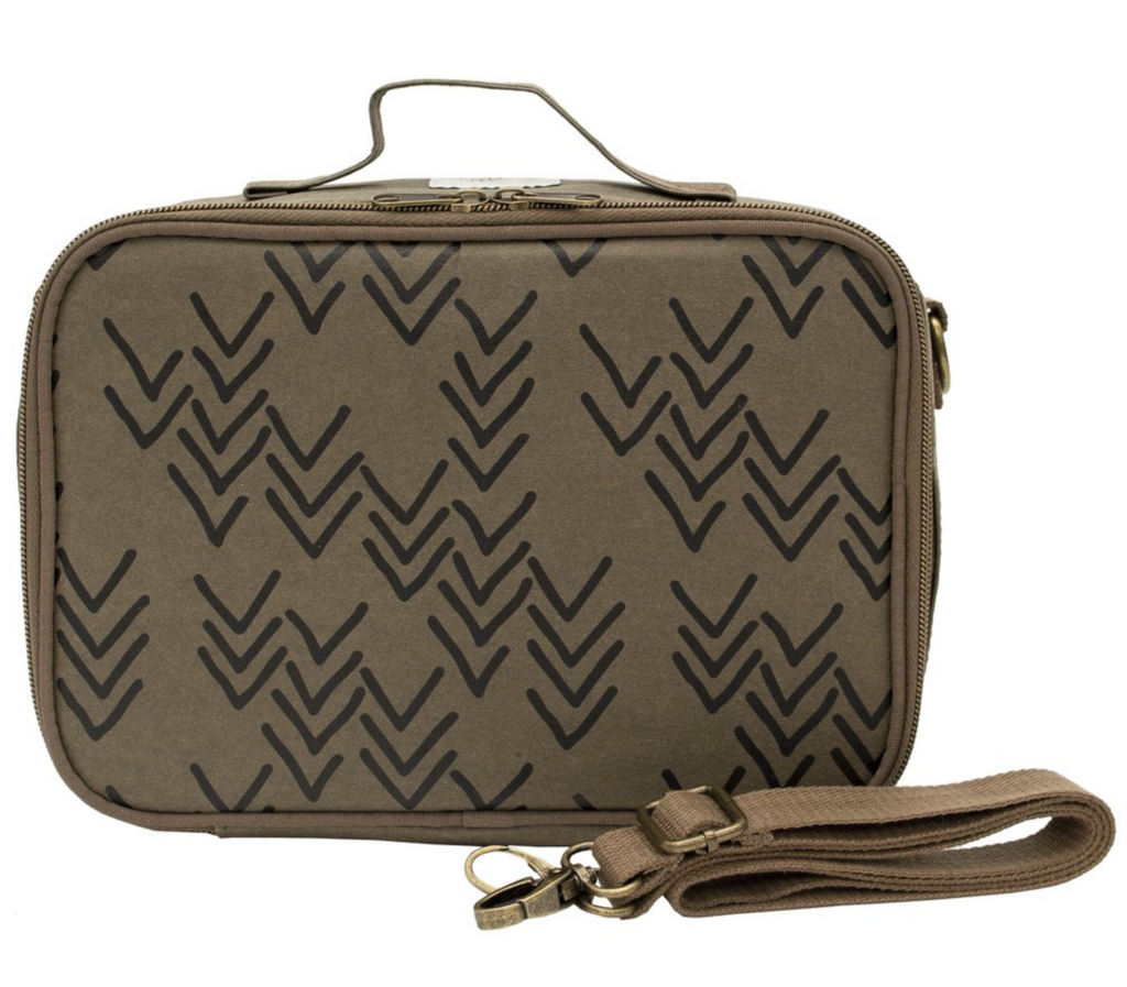 SoYoung Insulated Bag - Olive Paper Chevron