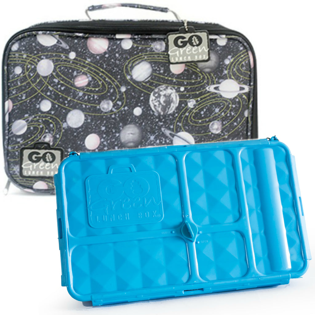 Go Green Lunch Box Set - Space Blue - LAST ONE!