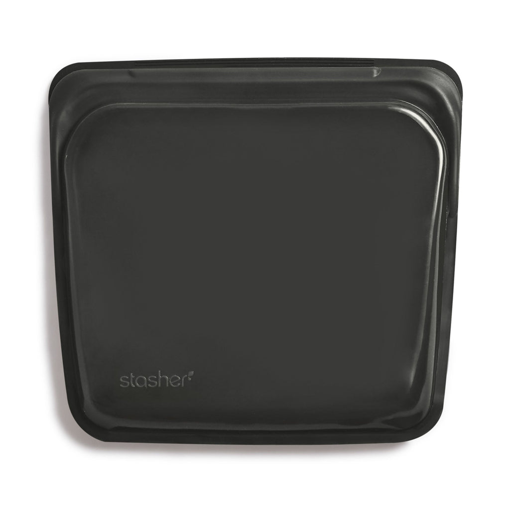 Stasher Reusable Silicone Bag - Sandwich - Obsidian