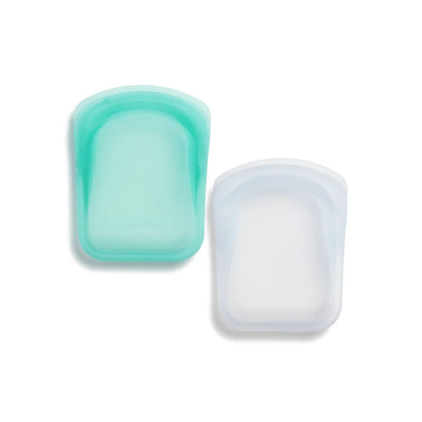 Stasher Silicone Pockets clear and Aqua