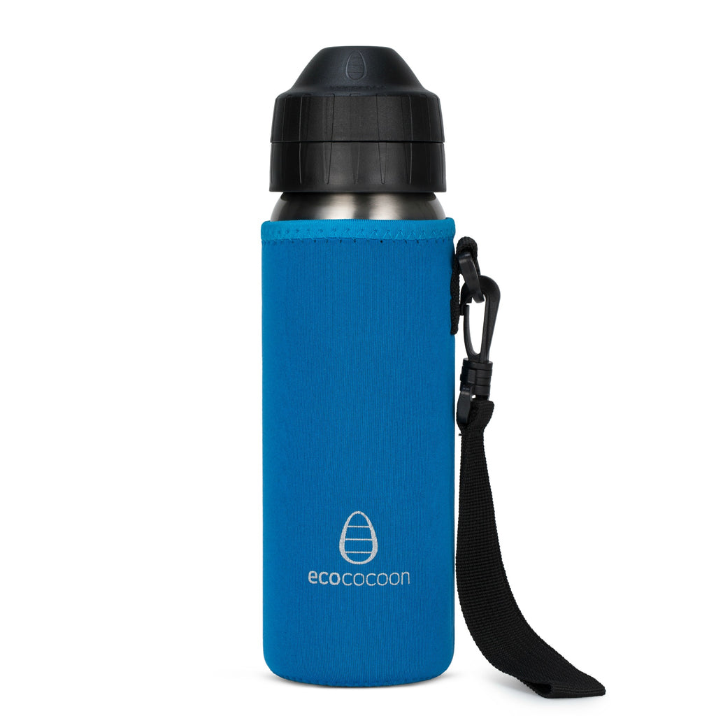 Ecococoon Bottle Cuddler 600ml - Topaz Blue
