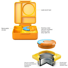 OmieBox Hot & Cold Lunch Box - Sunshine Yellow