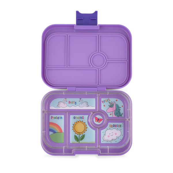 Yumbox Original 6 Lunch Box - Dreamy Purple