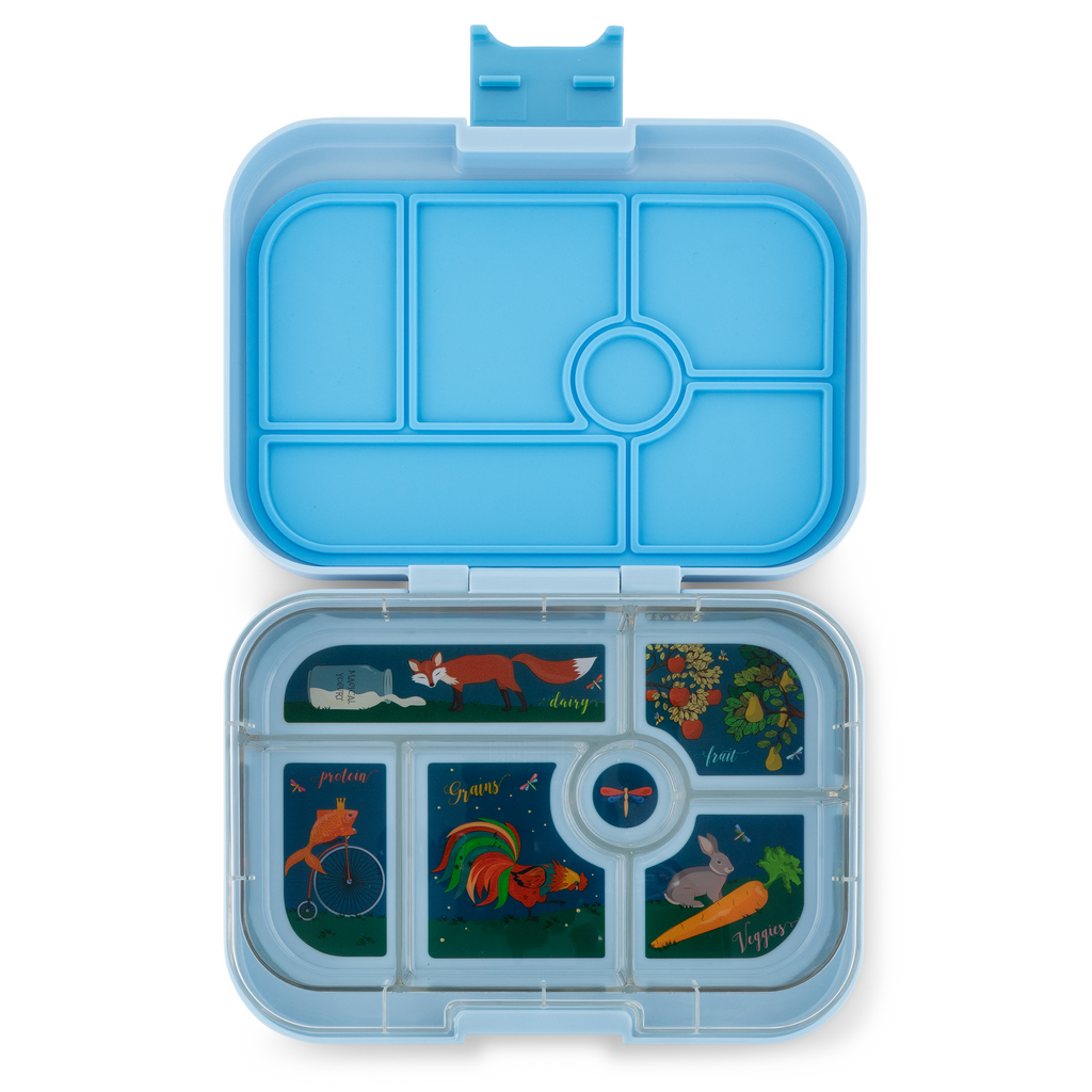 Yumbox Original 6 Lunch Box - Luna Blue