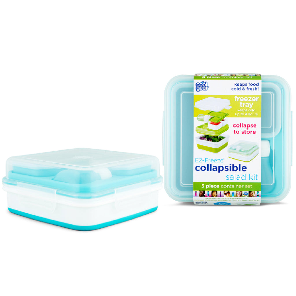 Salad 2 Go Collapsible Bento - Aqua