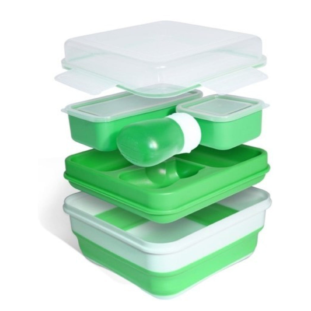 Salad 2 Go Collapsible Bento - Green