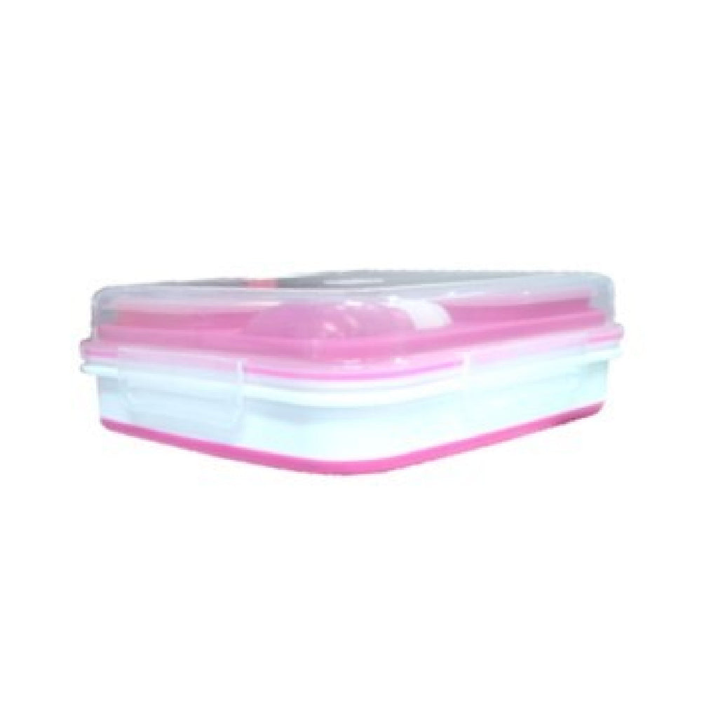 Salad 2 Go Collapsible Bento - Pink