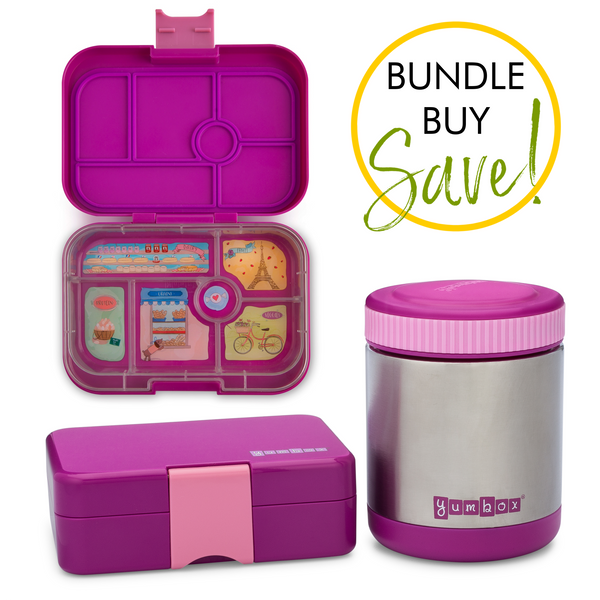 Yumbox Original, MiniSnack & Zuppa Jar Bundle - Bijoux Purple