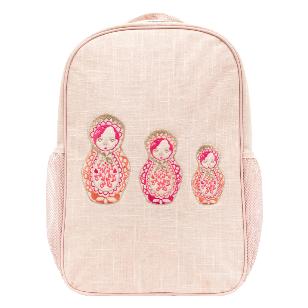 SoYoung School Backpack - Embroidered Dolls - LAST ONE!