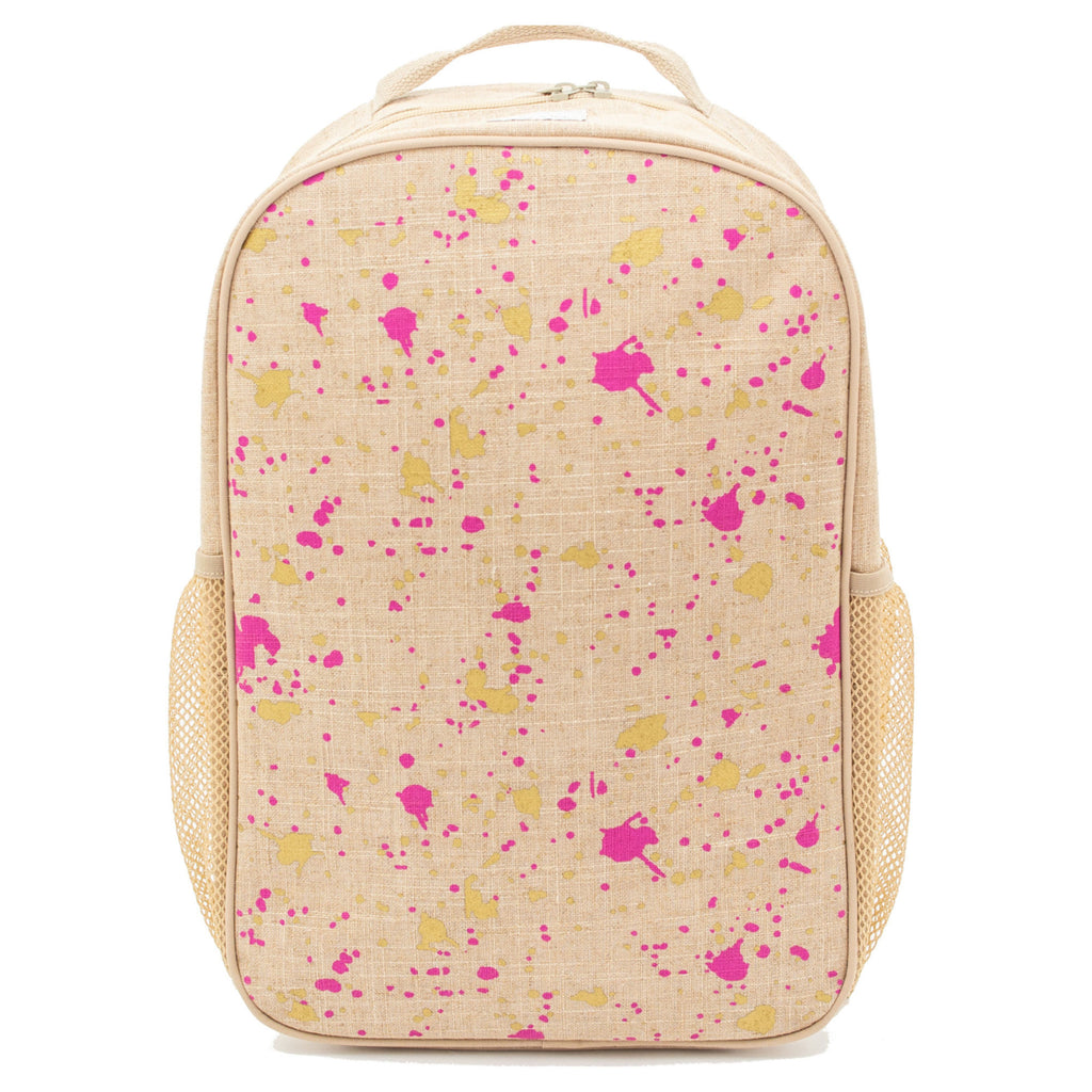 SoYoung School Backpack - Fuschia Gold Splatter
