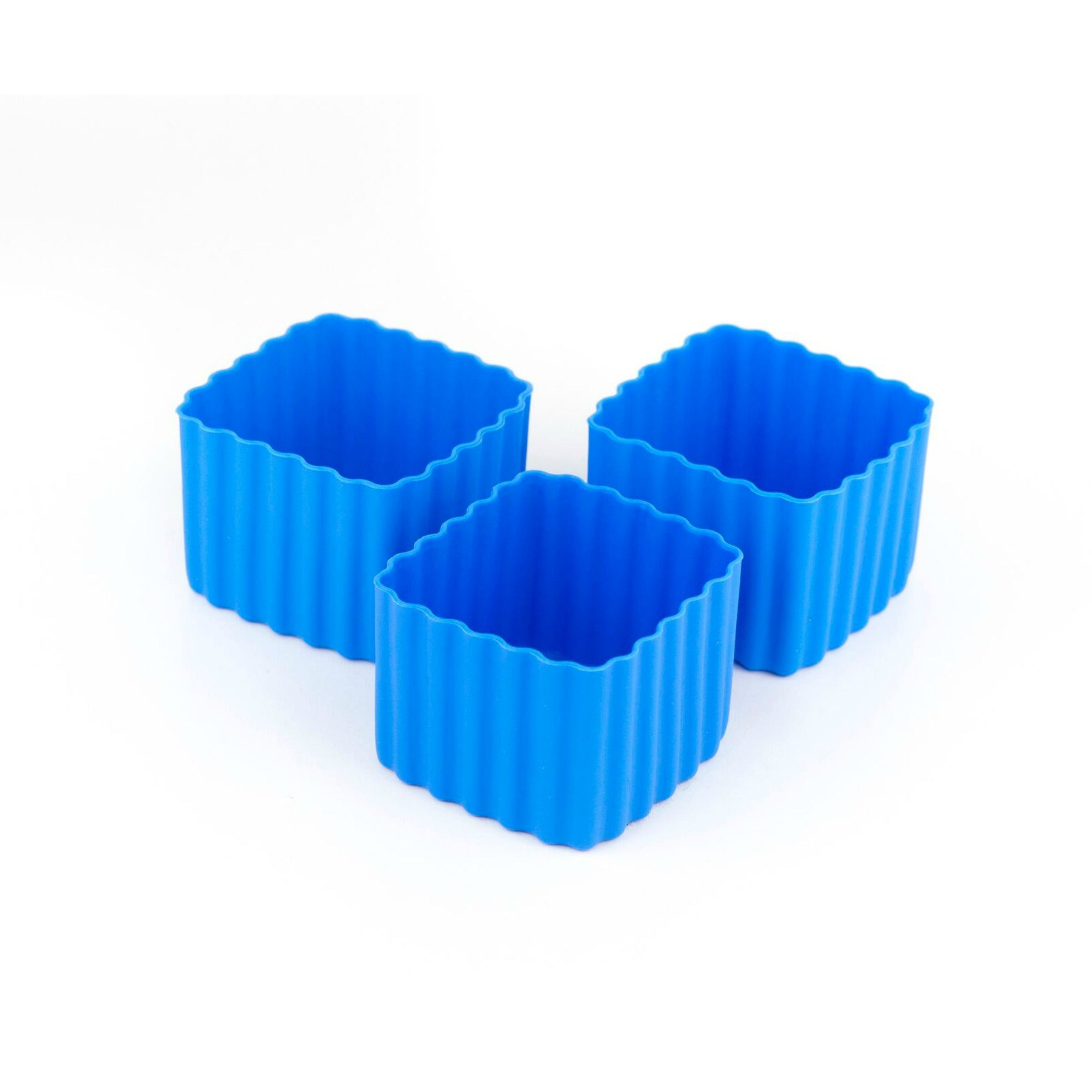 Little Lunch Box Co Square Bento Cups - Blue