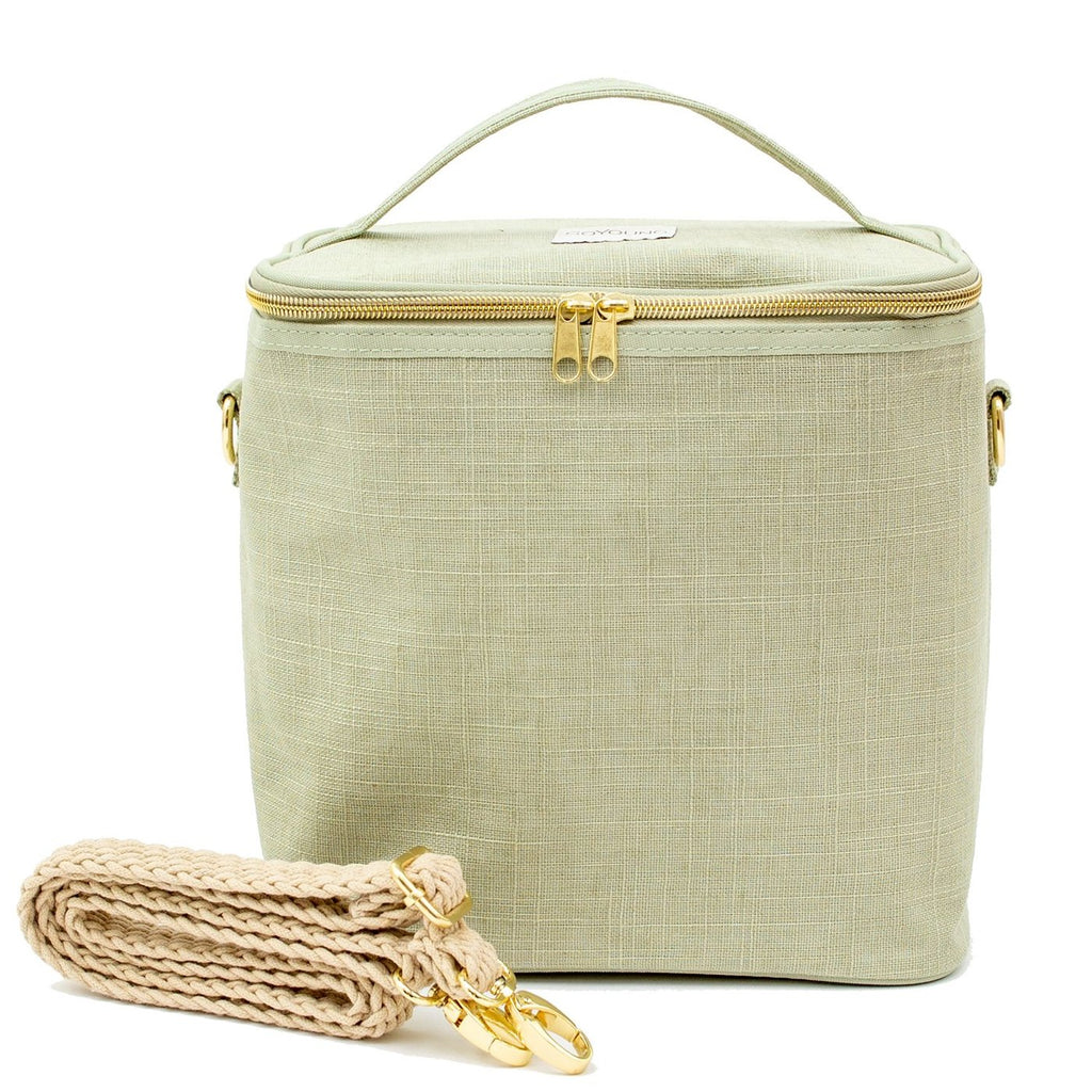 SoYoung Linen Poche Insulated Bag - Sage Green