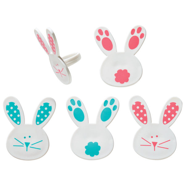 Bunny Rabbit & Tail Food Rings
