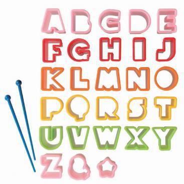 Alphabet Letters Food Cutter Set