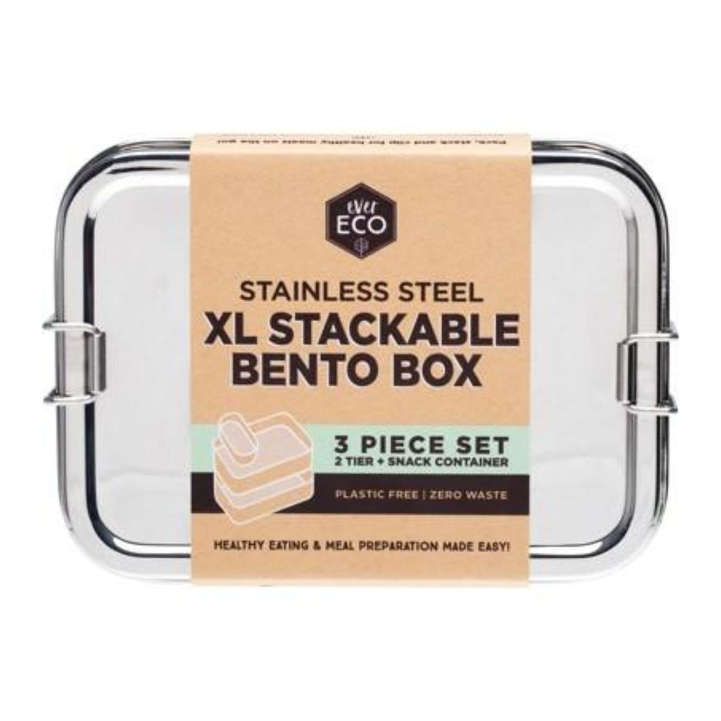 ever.Eco XL stainless steel stackable bento box