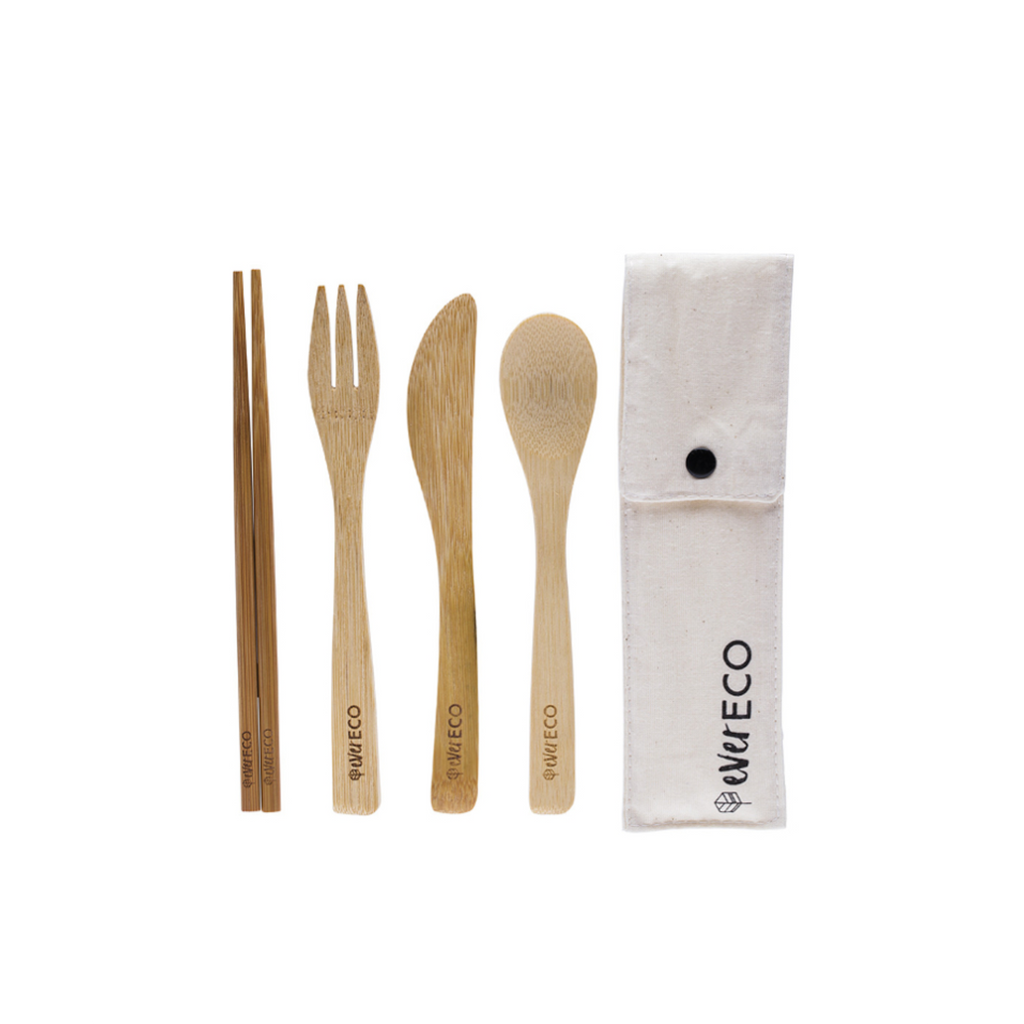 Bamboo Cutlery Set with Chopsticks