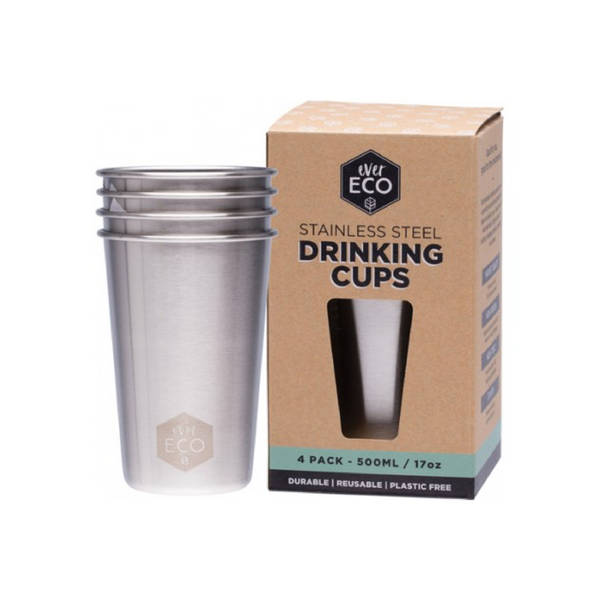 Stainless Steel Drinking Cups 4 Pack