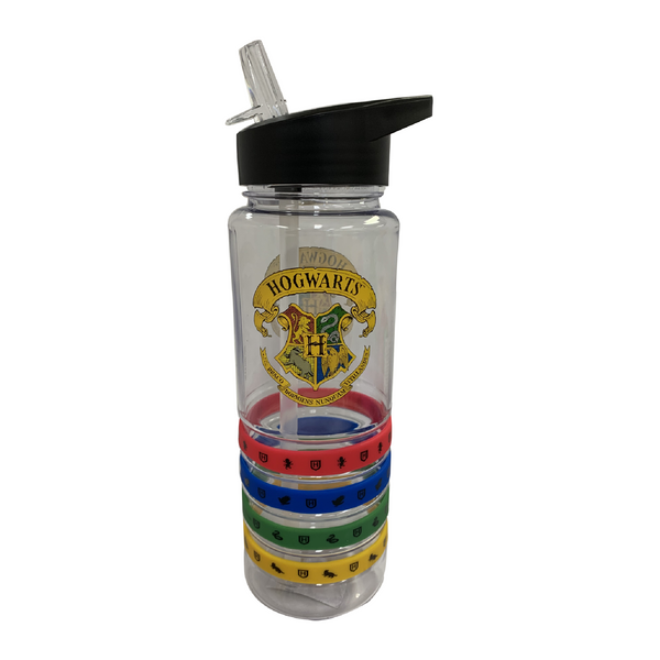 Harry Potter Tritan Drink Bottle With Wrist Bands