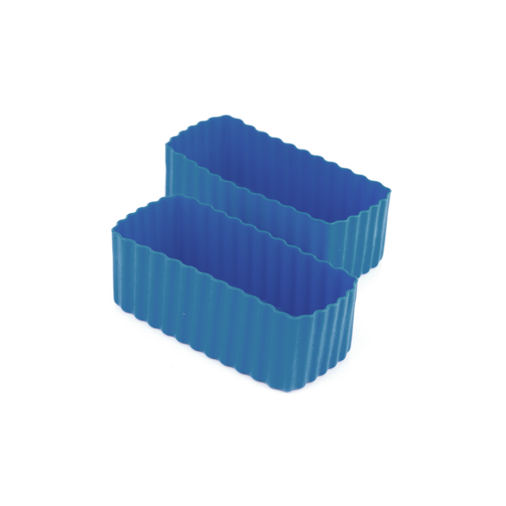 Little Lunch Box Co Rectangle Bento Cups - Medium Blue