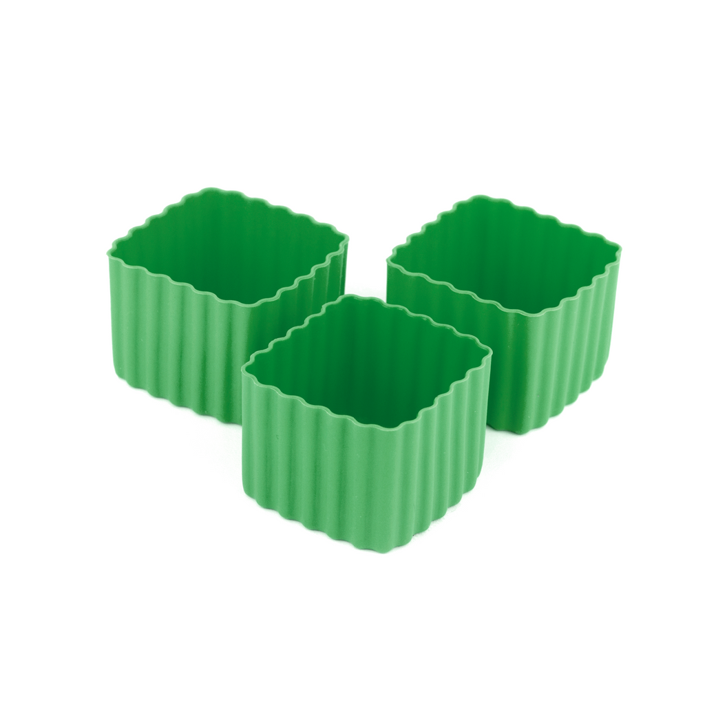 Little Lunch Box Co Square Bento Cups - Green