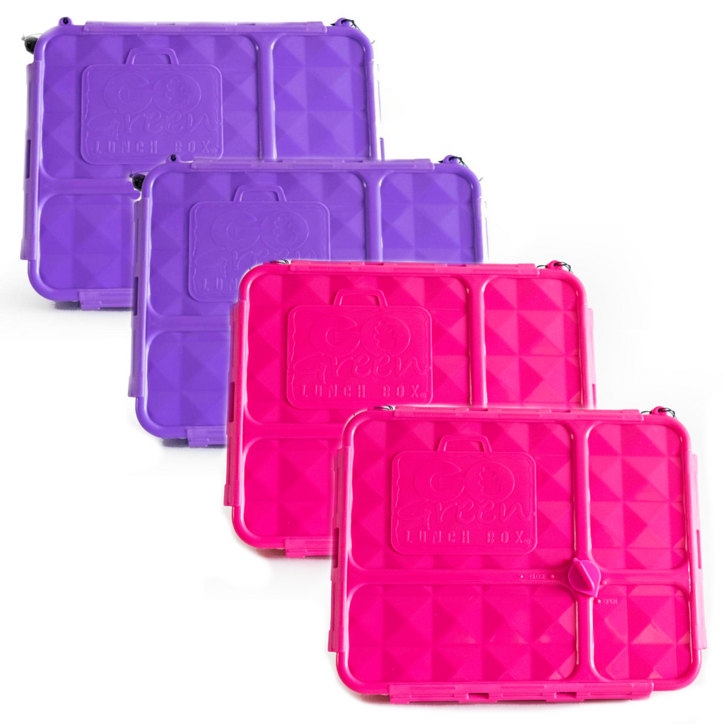 Go Green Lunch Box Bundle - Pink & Purple - FREE POST!